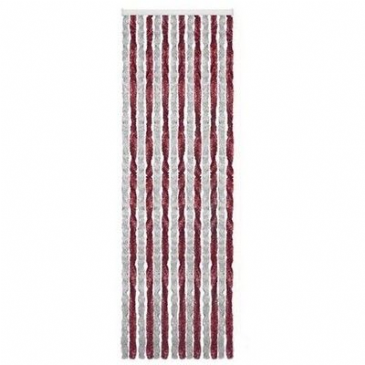 Arisol CHENILLE TYPE Motorhome Caravan Door CURTAIN - GREY & BURGUNDY